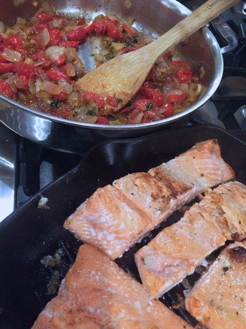 Best Salmon Recipe: Ina Garten's Salmon and Melting Tomatoes
