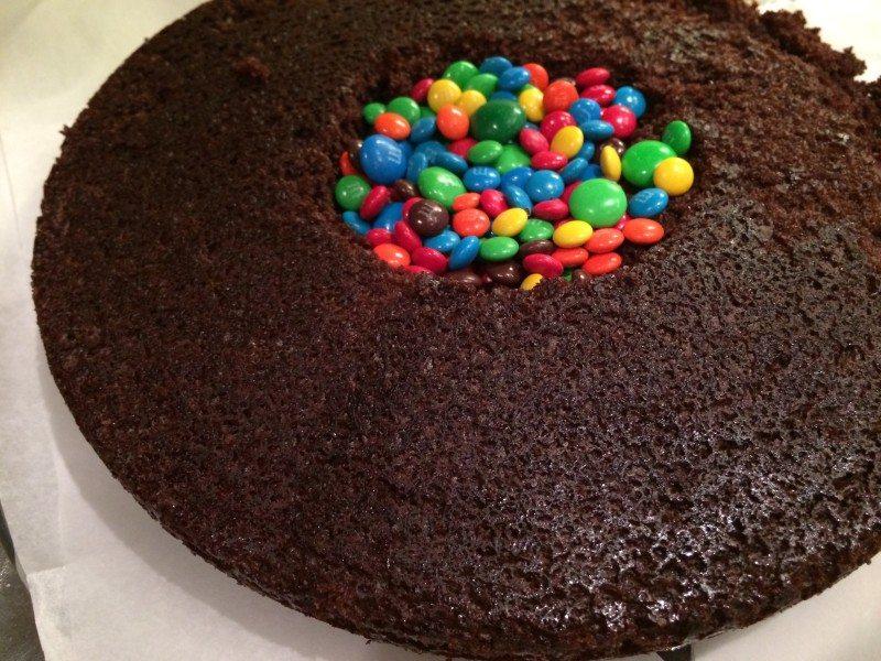 New years Surprise Cake