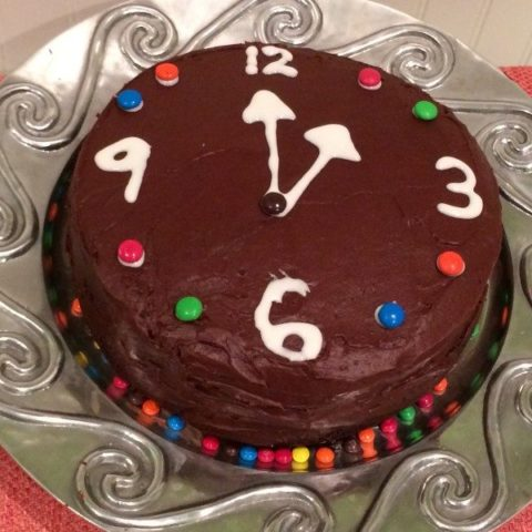 New Years Eve Cake Clock