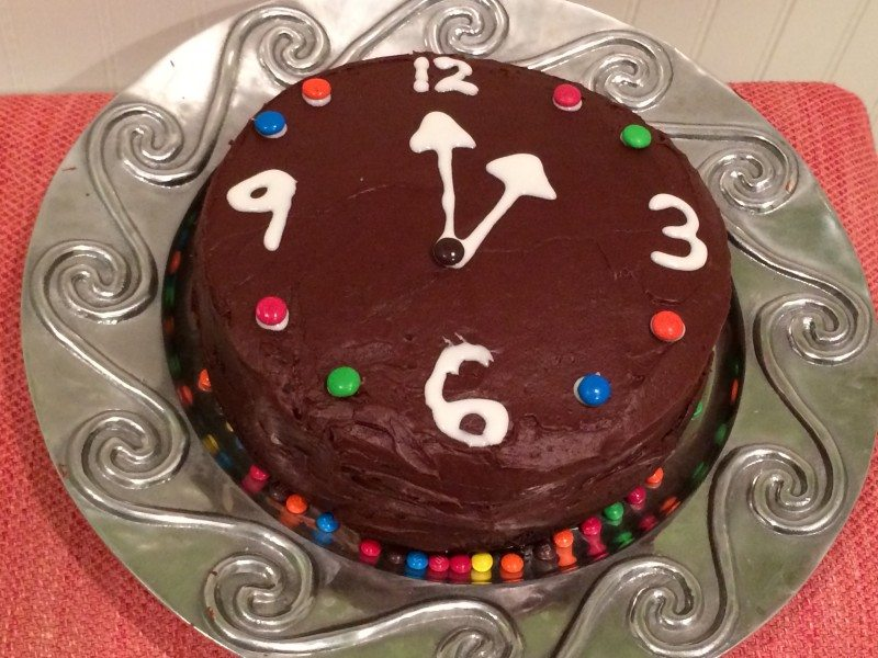 New Years Eve Chocolate Cake Recipe or Clock Cake