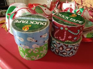 Holiday duck tape