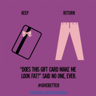 Gift ideas they will never return #Givebetter
