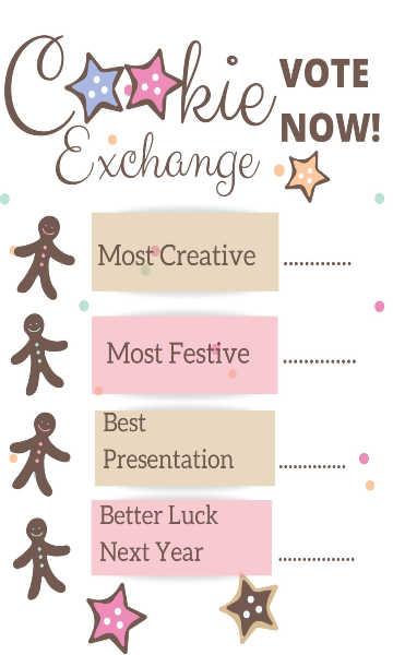 cookie exchange voting sheet