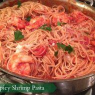 Spicy Shrimp Pasta Recipe with Barilla Pasta #Pastanight
