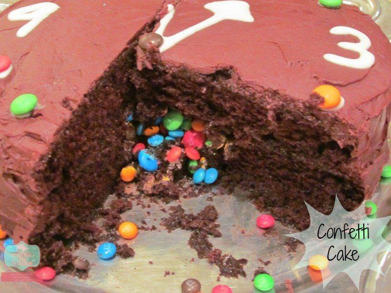 new years confetti cake