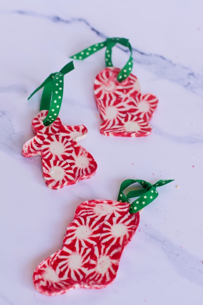 how to make Kid Friendly Christmas Crafts Using Peppermint Candy