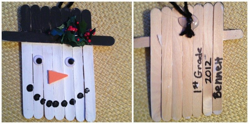 snowman ornament DIY Ornaments and Kids Christmas Crafts