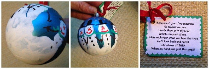 snowman palm ornament DIY Ornaments and Kids Christmas Crafts