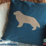 Easy Sewing Project:  Dog Silhouette Pillow  #DIY
