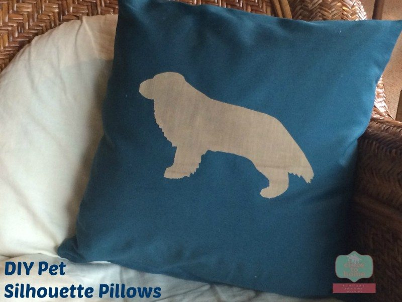 DIY dog pillows
