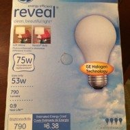 Room Makeover with GE Reveal Halogen bulbs