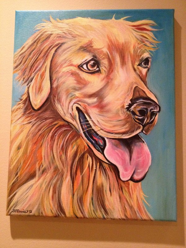 Custom Pet Portraits and Hand Painted Dog Ornmanents