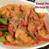 Shrimp & Sweet Pepper Stir Fry