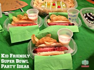 kid friendly super bowl party