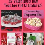 Valentines Day Teacher gifts for under $5 Pinterest Round Up