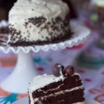 moist chocolate cake with cream cheese frosting