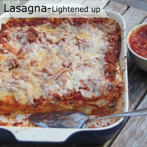 low fat lasagna crock pot