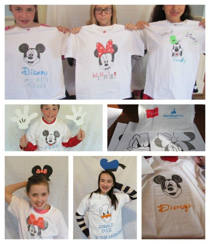 DIY disney tshirts