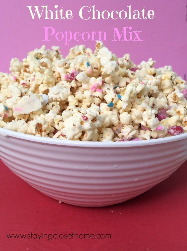 popcorn mix valentines day Easy Valentines Treats For Kids