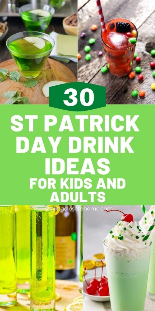 30 st patrick day drinks pin