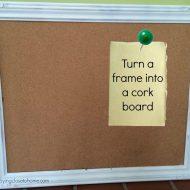 Repurpose Picture Frames into Cork Boards Tutorial