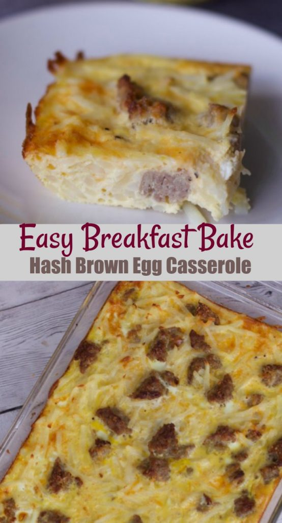 Easy breakfast Break sausage Egg Casserole Recipe