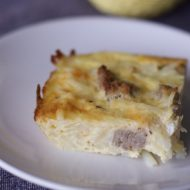 Easy Breakfast Bake: Hash Brown Sausage Egg Casserole Recipe