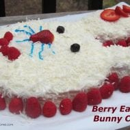 Easter Dessert Ideas- Berry Filled Bunny Cake Tutorial