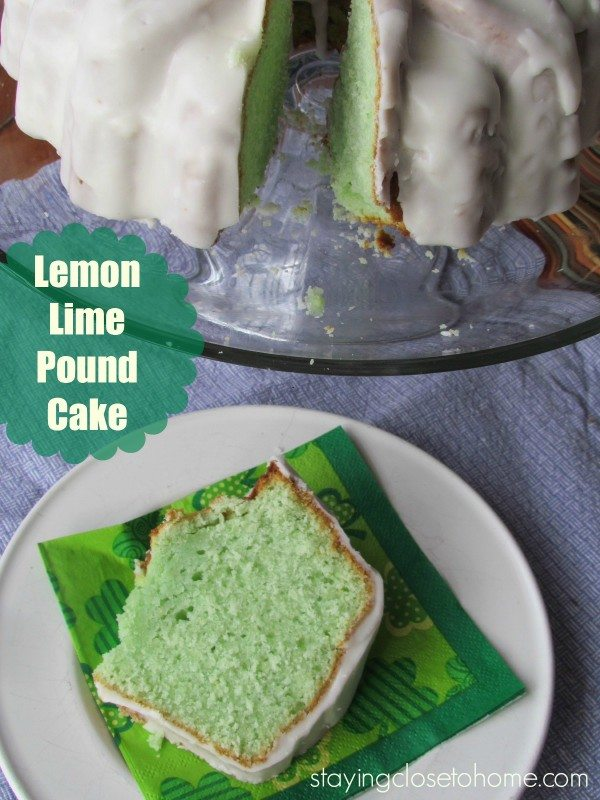 St. Patrick's Day Dessert- Lemon Pound Cake Recipe