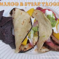 Mango and Flank Steak Tacos @stubbsbbqsauce