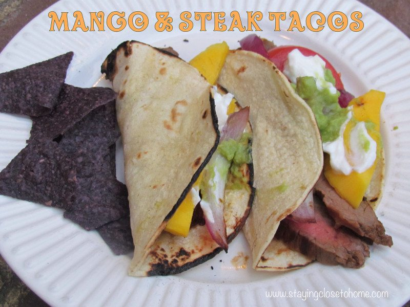 Mango and Flank Steak Tacos