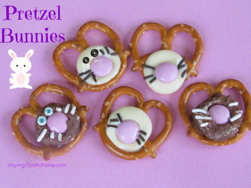 pretzel bunnies Three irresistible Pretzel & Chocolate Easter Dessert Ideas