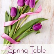 Spring Table Decorations Ideas:  Pinterest Round Up