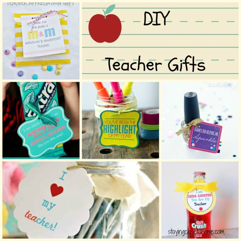 DIY Teacher Gifts  for Teacher Appreciation Day