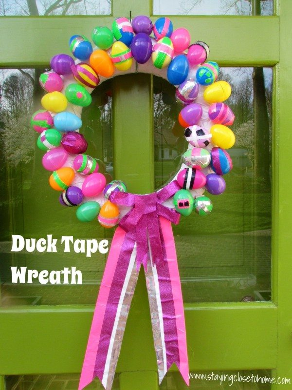 Duck Tape Easter wreath tutorial