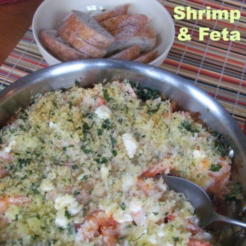 roasted shrimp and feta