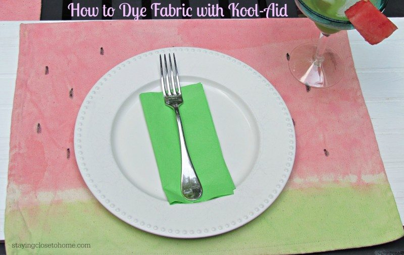 How to Paint Fabric with Kool-Aid Drink Mix