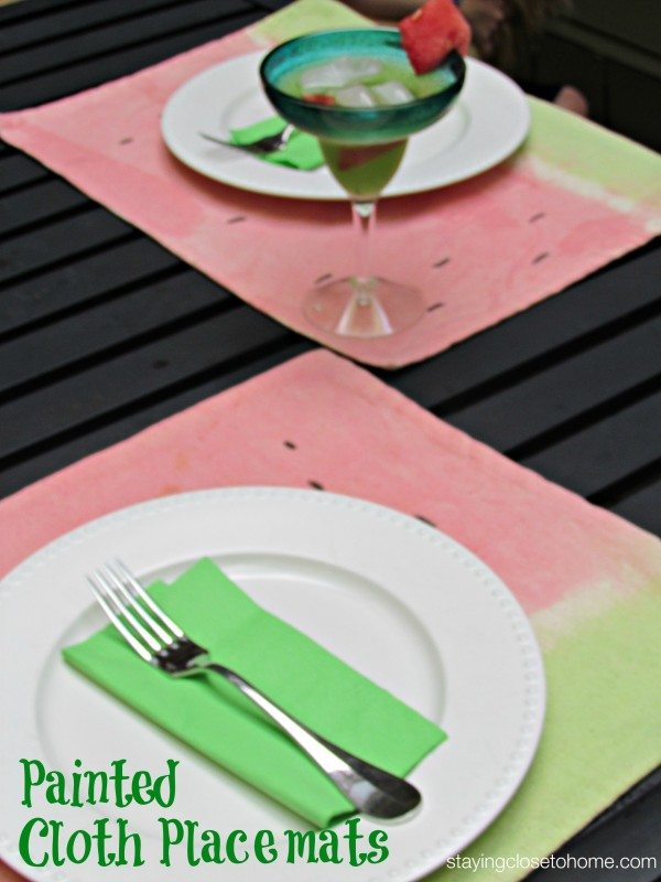 Learn how to paint fabric with kool-aid s a fun summer activity especially making these summer themed placemats