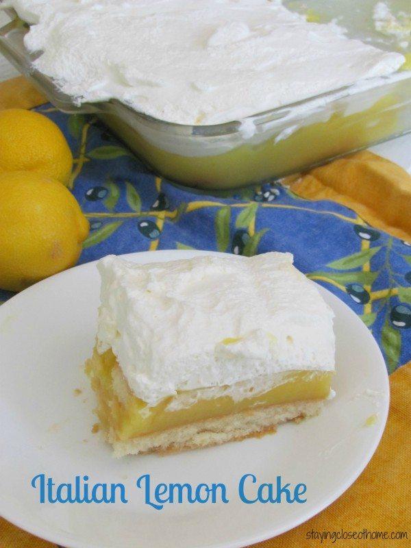 No Bake Grandma's Italian Lemon Cake Recipe