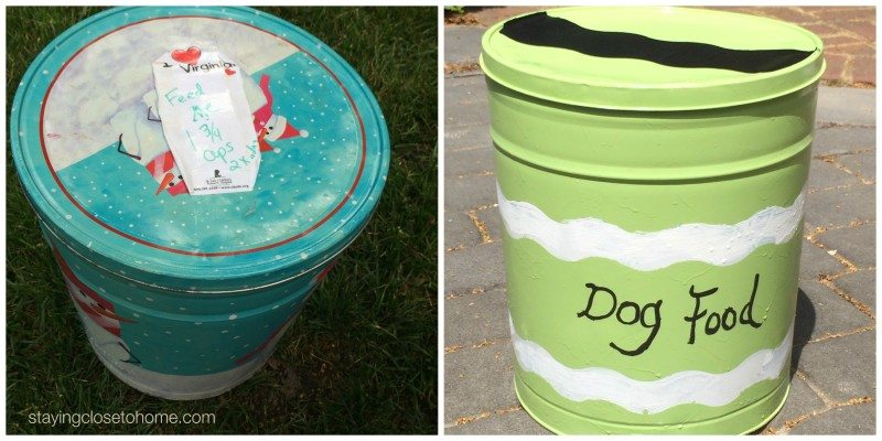 diy pet food container