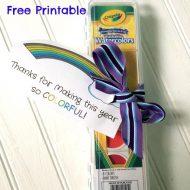 Super Easy Teacher Gifts- Rainbow themed Ideas
