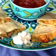 Easy Quesadilla in the a pinch for dinner or lunch to go