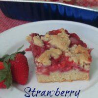 Springtime Strawberry Crumb Bars Recipe