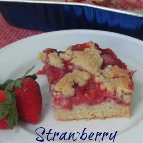 Springtime Strawberry Crumb Bars Recipe
