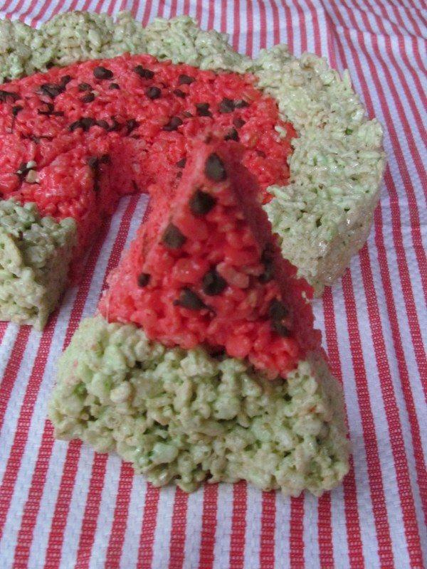 summer themed rice krispie treats/