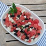 red white and blue salad idea. The perfect fourth of july side dish