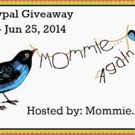 $50 Paypal Giveaway hosted by Mommie Again