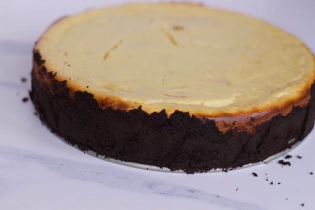 baked double layer cheesecake