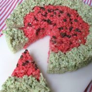 Watermelon Rice Krispies Treats For Summer Parties