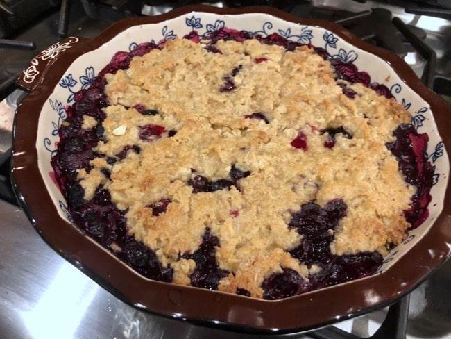 Baked blueberry crisp recipe